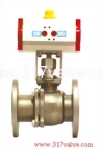 (NUD-BV34F) PNEUMATIC ACTUATED BALL VALVE (STD DOUBLE ACTING)