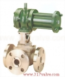 (CYD-FC3WF / CYD-3043WF) CYLINDER TYPE 3-WAY FLANGED BALL VALVE