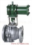 (CYD-BV13F / CYD-BV34F) CYLINDER TYPE FLANGED BALL VALVE FLANGED END