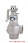 (S3S-LR) CAST IRON LOW LIFT SAFETY RELIEF VALVE SCREWED END