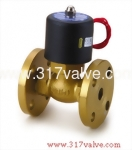 (USF (CONN.) Series) MULTIPLEX, PILOT OPERATED PISTON, CONDUCTIVE AND NORMALLY CLOSED SOLENOID VALVE FLANGED END