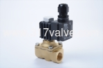 (PKW OF EXPLOSION PROOF EX II2 G EX E MB IIC T4 GB Series) DIRECT, MULTIPLEX, CONNECTED DIAPHRAGM CONDUCTIVE AND NORMLLLY CLOSED FORGED BRASS SOLENOID VALVE 3/8
