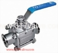 (BV-3PT) 3-PC SANITARY BALL VALVE
