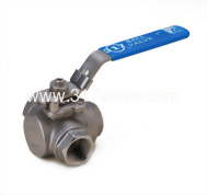 (BV-3BSL/BV-3BST) 3-WAY INVESTMENT CASTING BALL VALVE L-PORT / T-PORT