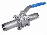 (BV-3PL) 精密鑄造316三片式長管對焊球塞閥