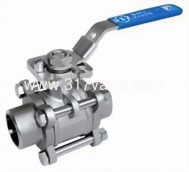 (BV-3PS-BWD/BV-3PC-BWD) 3-PC FULL PORT BALL VALVE