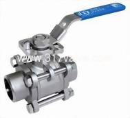(BV-3PS-BWD/BV-3PC-BWD) 精密鑄造316三片式對焊球塞閥(全量式) 1000 WOG