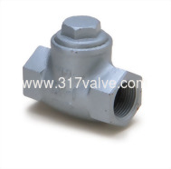 (DG-162) DUCTILE IRON LIFT CHECK VALVE SCREWED END CLASS 10K