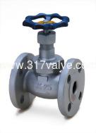 (DG-110 / DG-111) 鍛鐵球型閥法蘭口 CLASS 10K (410金屬閥座/TEFLON閥座) 1/2