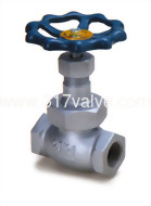 (DG-200/DG-201) DUCTILE IRON GLOBE VALVE CLASS 20K SCREWED END (SUS410 DISC/PTFE DISC)