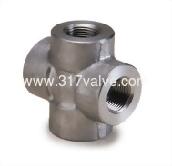 (FG-CRS-TH) HIGH PRESSURE PIPE FITTING CROSS