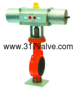 (NUS-BF26S) PNEUMATIC ACTUATED BUTTERFLY VALVE (STD SINGLE ACTING)