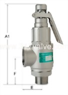 (SV-S8DL)  LOW LIFT ST.ST.316 SAFETY RELIEF VALVE (1x2)