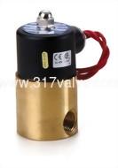 (UAO 中流量系列) 複動活塞引導式通電開型電磁閥