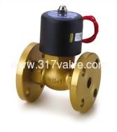 (USF (接式)大流量系列) 鑄銅複動活塞引導式通電開型電磁閥 接口法蘭口