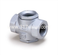 (SK-T6) CAST IRON SIGHT GLASS SCREWED END (MINIATURE TYPE)