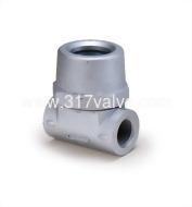 (SK-T8) CAST IRON SIGHT GLASS SCREWED END (TEFLON BALL)