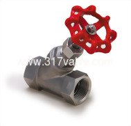 (VTS) STAINLESS STEEL 316 SHUT-OFF VALVE CLASS 200 SCREWED END