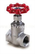 (SS-207) STAINLESS STEEL GATE VALVE CLASS 600 SCREWED END