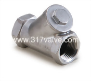 (YC-316) STAINLESS STEEL Y-SPRING CHECK VALVE CLASS 600