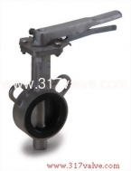 (BF-304-26S/316-26M/304-28S/316-28M) ST.ST.304 / ST.ST.316 BUTTERFLY VALVE WAFER TYPE LEVER & GEAR OPERATED