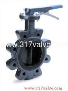 (BF-26NL/26SL/26ML/28GL/28ML) CAST IRON BUTTERFLY VALVE LUG TYPE LEVER & GEAR OPERATED
