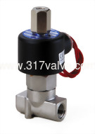 (SUS-NO Series) DIRECT-ACTING, CONDUCTIVE AND NORMALLY OPEN SS316 SOLENOID VALVE 1/8