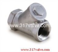 (YC-316) STAINLESS STEEL Y-SPRING CHECK VALVE CLASS 600 SCREWED END