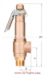LOW LIFT BRONZE SAFETY RELIEF VALVE (SV-B9L/SVP-B9L)