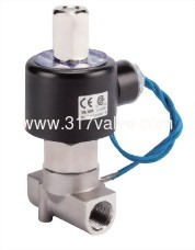 DIRECT-ACTING, CONDUCTIVE AND NORMALLY OPEN SS316 SOLENOID VALVE 1/8 (SUS-NO Series)