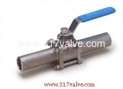 3-PC INVESTMENT CASTING BALL VALVE LONG BUTT WELDED END (V-3L / V-3LC)