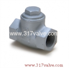 DUCTILE IRON LIFT CHECK VALVE SCREWED END CLASS 10K (DG-162)