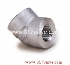 HIGH PRESSURE PIPE FITTING ELBOW 45 DEG (FG-ELB45-TH)