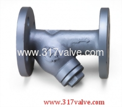 CAST IRON Y-STRAINER CLASS 10K AND 150LBS (YS-R3F)