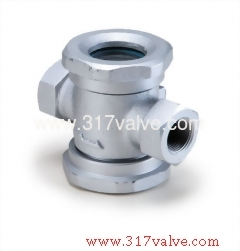 CAST IRON SIGHT GLASS FLANGED END (FLAPPER TYPE) (SK-B2)