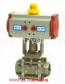 PNEUMATIC ACTUATED 3-PC BALL VALVE SCREWED END (STD DOUBLE ACTING) (NUD-BV3PM)
