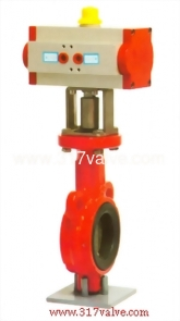 PNEUMATIC ACTUATED BUTTERFLY VALVE (STD DOUBLE ACTING) (NUD-BF26S)