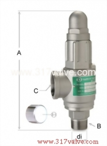 LOW LIFT ST.ST.316 SAFETY RELIEF VALVE (1x2) (SV-S8DA)