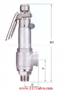 LOW LIFT ST.ST.304 SAFETY RELIEF VALVE (1x2) (SV-S9DL/SVP-S9DL)