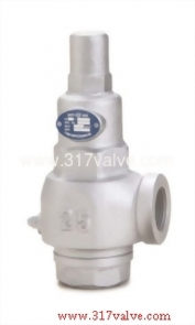 CAST IRON LOW LIFT SAFETY RELIEF VALVE SCREWED END (S3S-LR)