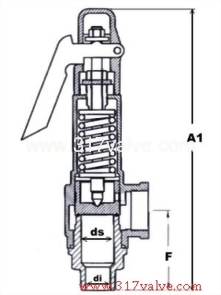 LOW LIFT BRONZE SAFETY RELIEF VALVE (1x2) SV-B9DL/SVP-B9DL)