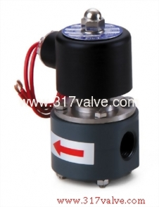 DIRECT-ACTING, CONDUCTIVE AND NORMALLY CLOSED SOLENOID VALVE (UDC Corrosion Resistance Series (PVC Body))
