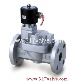 MULITIPLEX, PILOT OPERATED PISTON, CONDUCTIVE AND NORMALLY CLOSED SOLENOID VALVE FLANGED END (USF (FC) Series)