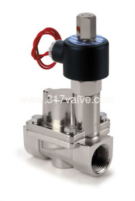 MULTIPLEX, PILOT OPERATED PISTON, CONDUCTIVE AND NORMALLY OPEN SS316 SOLENOID VALVE 1/2 (SUS-NO Series)