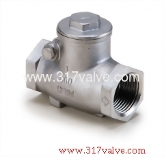 STAINLESS STEEL SWING CHECK VALVE CLASS 600 SCREWED END (SS-209)