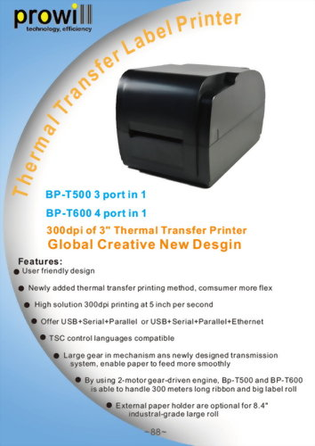Barcode Printer BP T500 600 Catalog