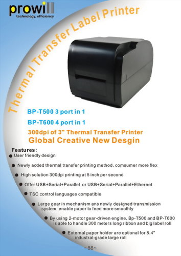Barcode Printer Catalog - Prowill Technology Co , Ltd