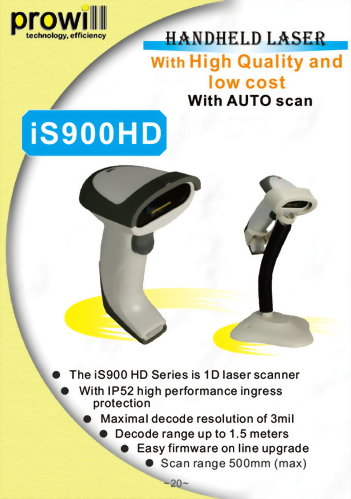 Barcode Scanner-1D Handheld Barcode Scanner-iS900HD