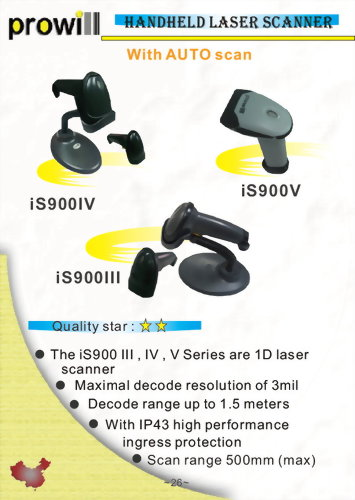 Barcode Scanner-1D Handheld Barcode Scanner-iS900SIII_IV_V Auto