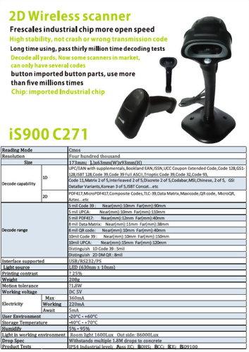 Barcode Scanner-2D Handheld Barcode Scanner-iS900 C271